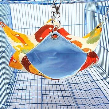 Garciakia Pet Cat Bird Hamster Ferret Rat//Squirrel Hammock Hanging Mat Nest Bed House Toys Swing Bed House Cage