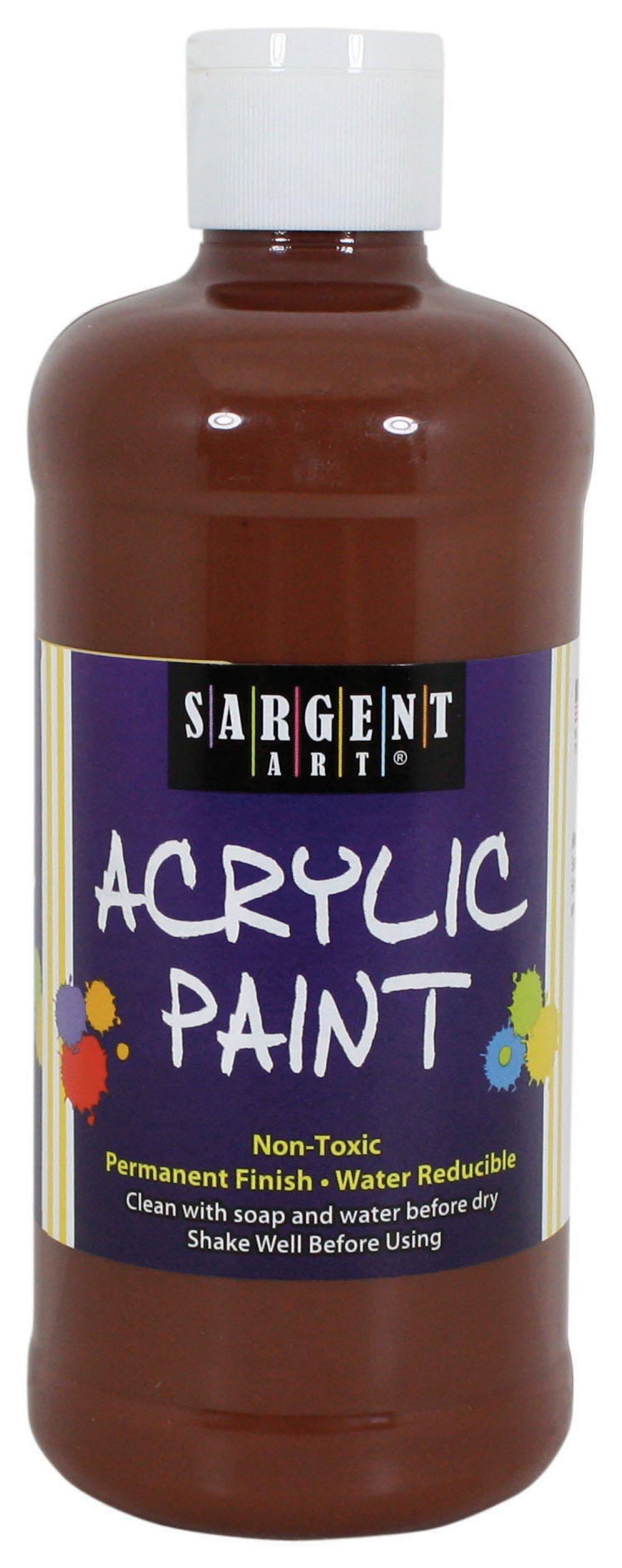 Sargent Art 24-2488 16-Ounce Acrylic Paint, Brown