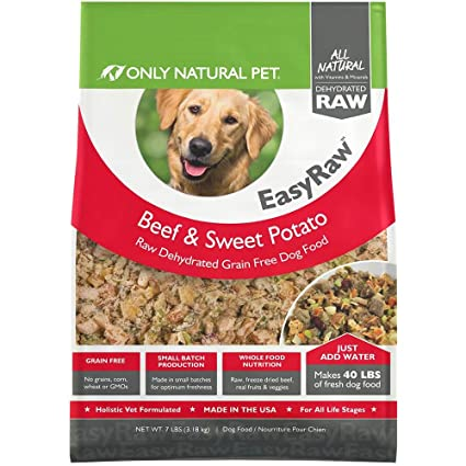 Only Natural Pet Easyraw Human Grade Dehydrated Raw Dog Food Formula
