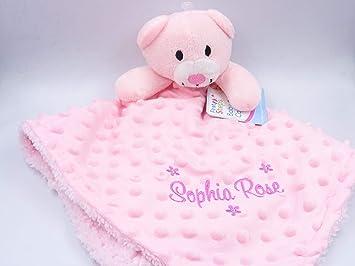 07dd96736f31b Personalised Embroidered Baby Girl Boy Dimple Luxury 3D Teddy Bear  Comforter Blanket Blankie Gift Keepsake (Pink 3D Teddy Bear)