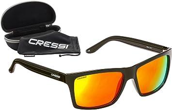 32da52adb5 Cressi Rio Sunglasses Gafas de Sol, Unisex Adultos, Negro Opaco/Lentes  Naranja, Talla única: Amazon.es: Deportes y aire libre