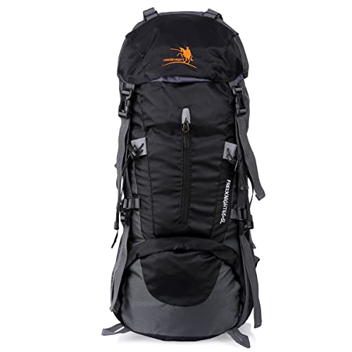 Freeknight 60L Travel Backpack Large Hiking Camping Ruck Sack Water Resistang Luggage Bag for Outdoor Travel Climbing Camping Mountaineering