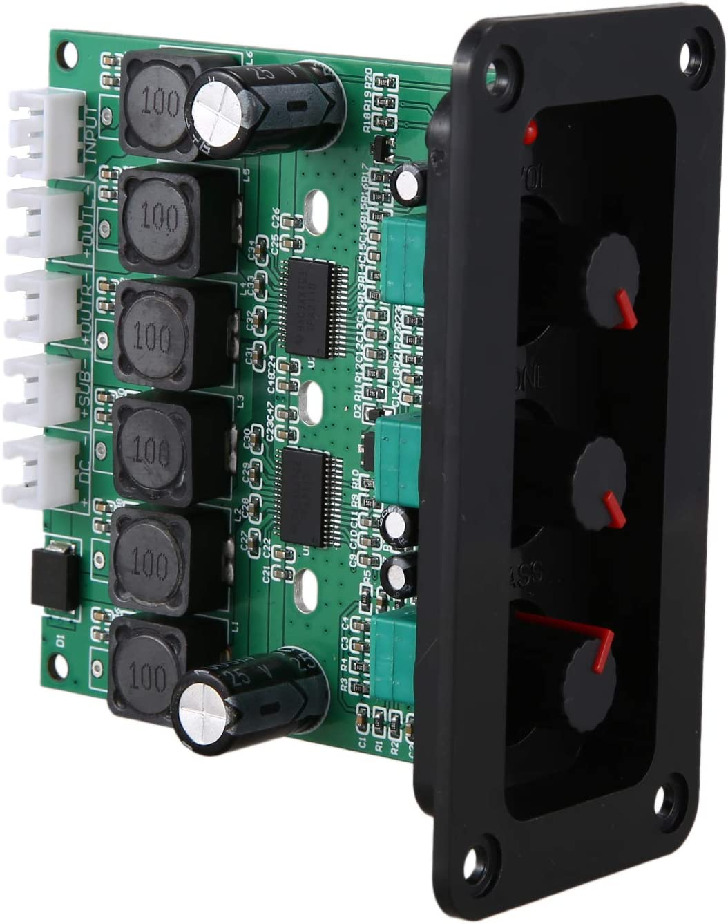 Gaoominy TPA3118DD2 Subwoofer Amplifier Board 30Wx2+60W HiFi High Power TPA3118D 2.1 Digital Audio Amplifiers with Panel