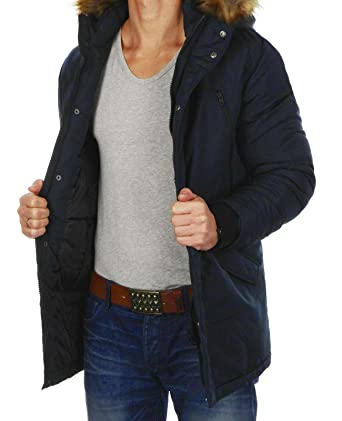 JACK   JONES Herren Parka jcoHOLLOW Winterjacke Mantel Jacket Regular Fit  (S, Blau ( 1d920fc335