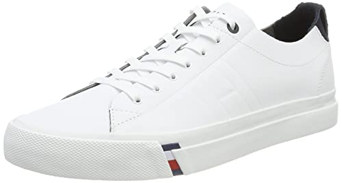 7f49c6b33734 Tommy Hilfiger D2285INO 1A - White Leather Mens Trainers 42 EU ...