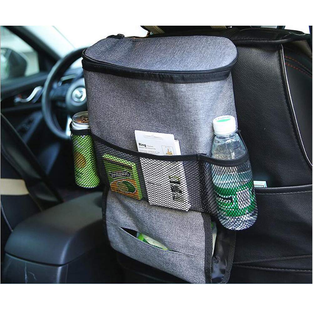 Pocket Heat-Preservation Insulated Wrap Bottle Bag with Mesh Pockets Westspark Car Seat Back Heat Insulation Organizer Auto Back Seat Hanging Cooler Bag Travel Storage Multi