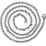 1 Halskette Gliederkette 55cm Silbern Edelstahlkette Damen Herren Kette Charm Ankerkette Schlangenkette Glieder