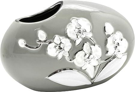 argento altezza 37 cm Vaso da fiori moderno vaso da fiori in ceramica da tavolo vaso bianco