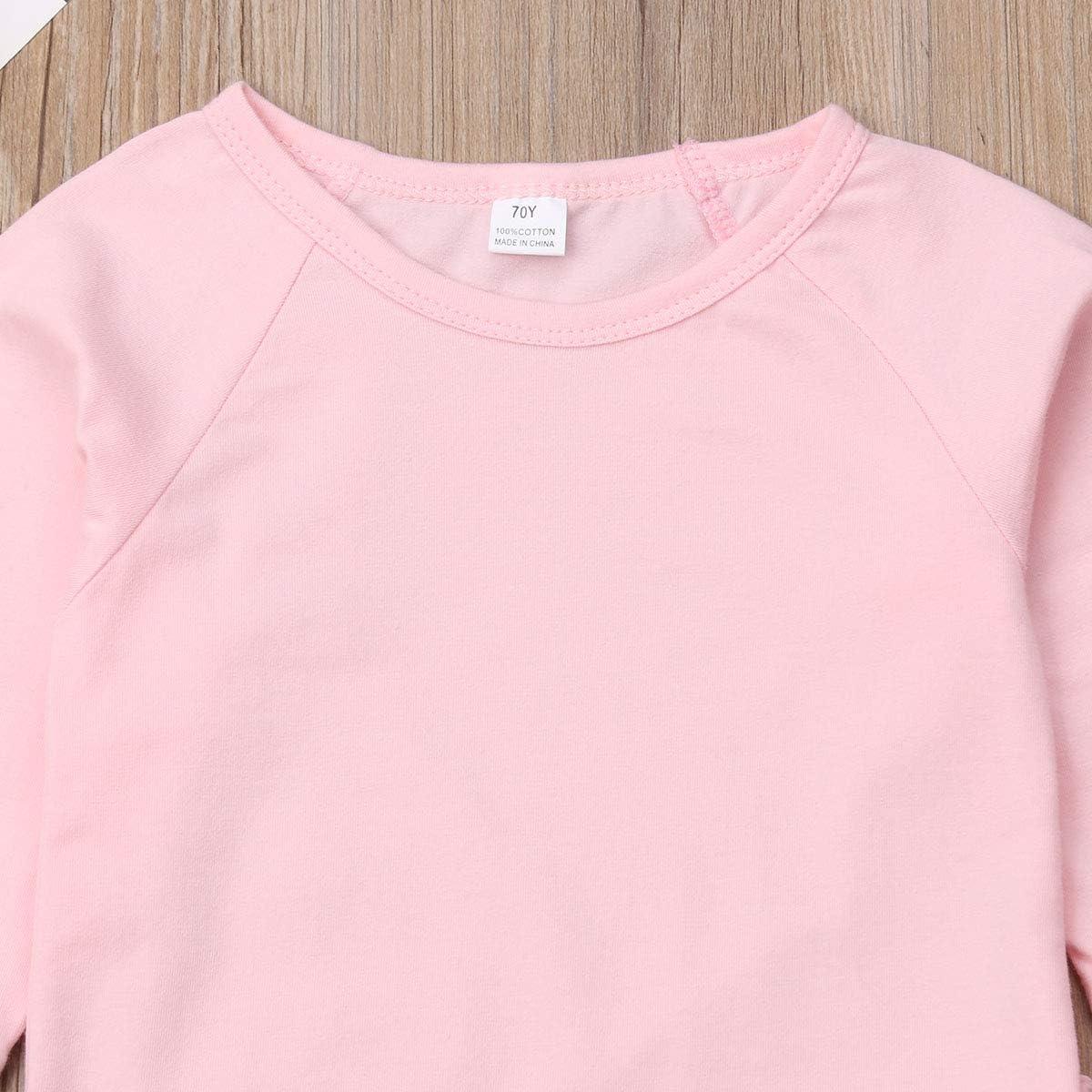 ITFABS Cute Baby Boys Girls Pajamas Set Cotton Solid Pjs Sleepwear Toddler Baby Long Sleeve Sleeper Home Wear