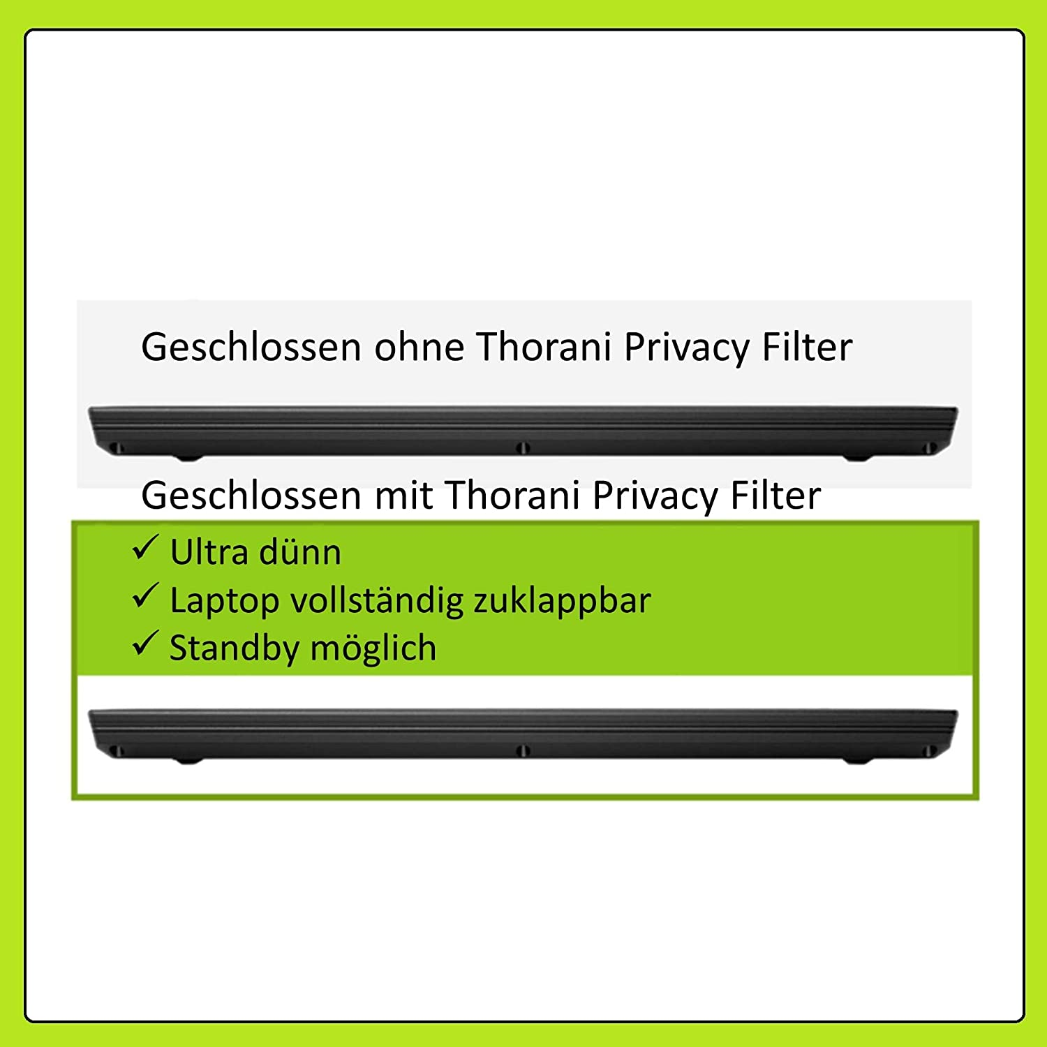 16:9 14.0 Inch with Magnet Thorani Privacy Screen Filter /& Protector for Laptop I Notebook