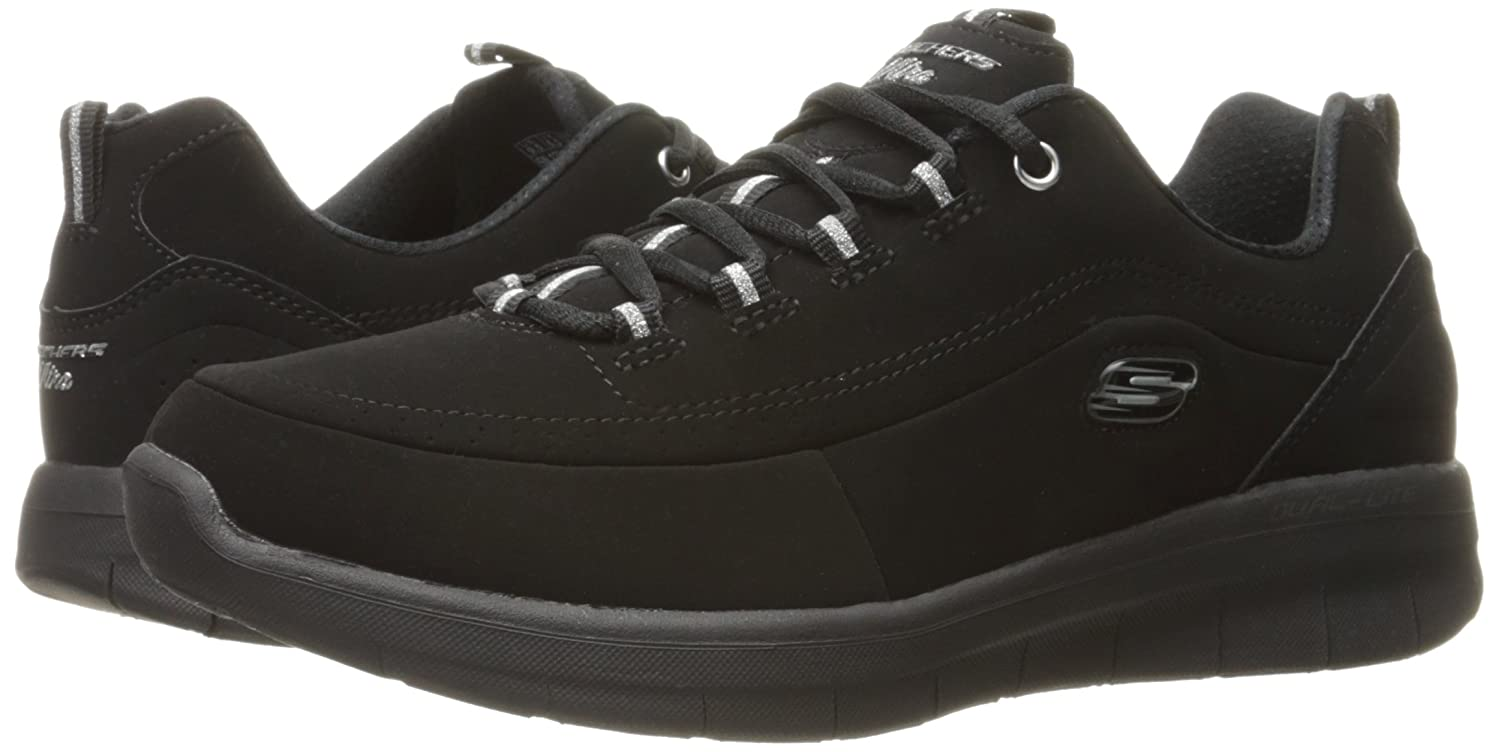 Skechers Women's S Ynergy 2.0-Side-Step Fashion Sneaker B01N3V6L7J 7.5 B(M) US|Black
