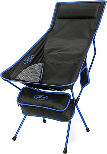 G4Free Upgraded Lightweight Portable Camping Chair Outdoor Folding Backpacking High Back Camp Lounge Chair