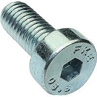 Aerzetix 20 schroeven met cilinderkop, M5 x 12 mm, DIN7984, staal, verzinkt, 3 mm, Inbus C18292