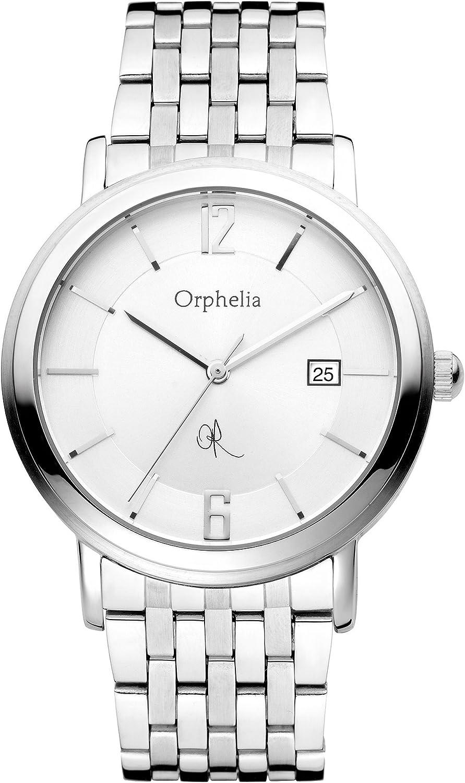 Orphelia 132-7709-88 - Reloj analógico de Cuarzo para Hombre con Correa de Acero Inoxidable, Color Plateado