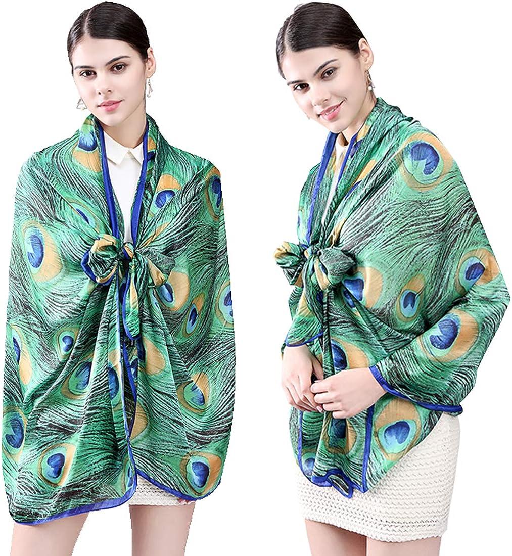 Womens Silk Scarf Sand Beach Seasehll Blue Sky Printed Square Scarf Sunscreen Shawls 23.6 X 23.6