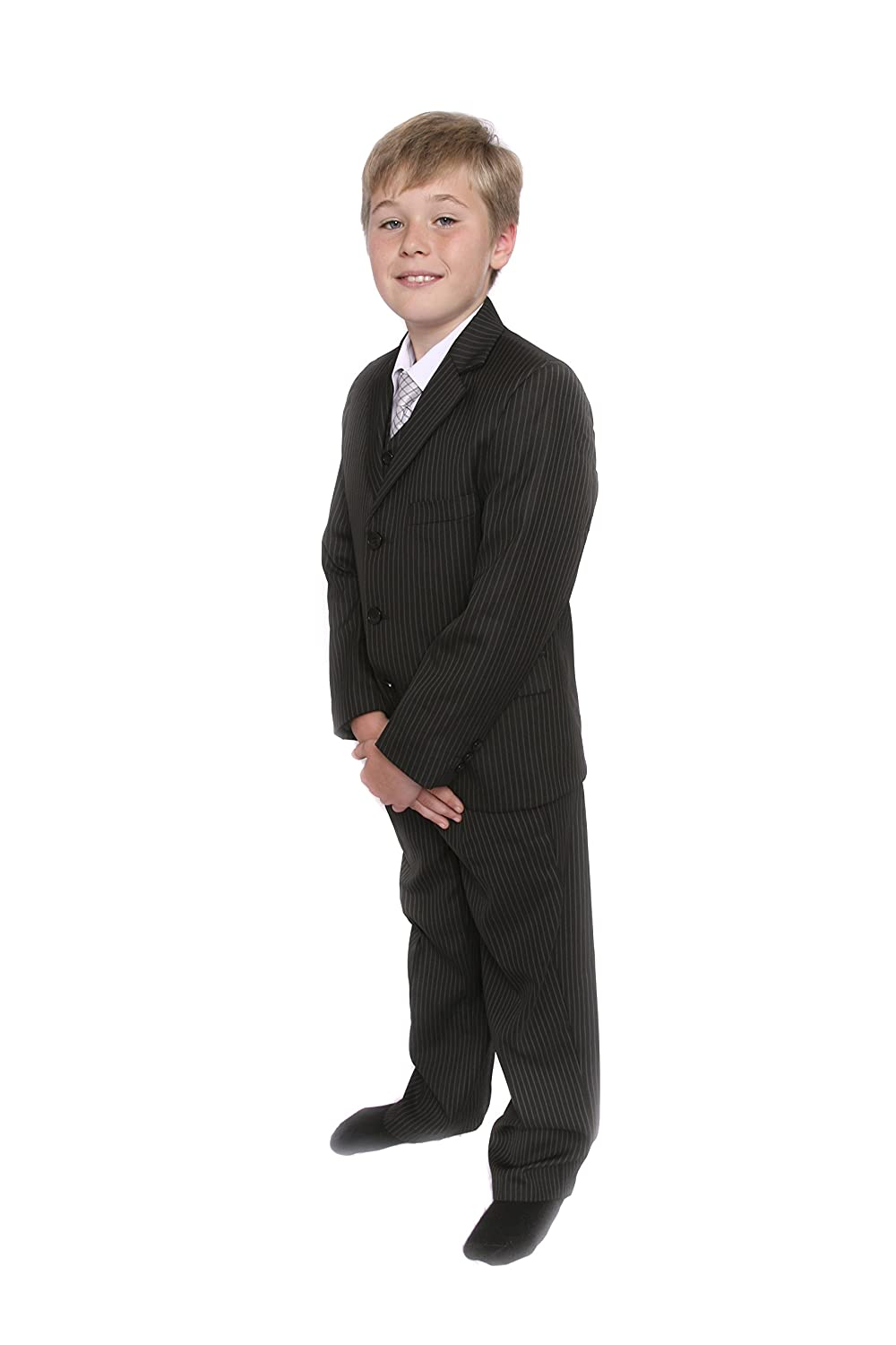 Boys Suit,Boys Black Pinstripe Suit,Wedding Suit,Page Boys Suits 1-10yrs