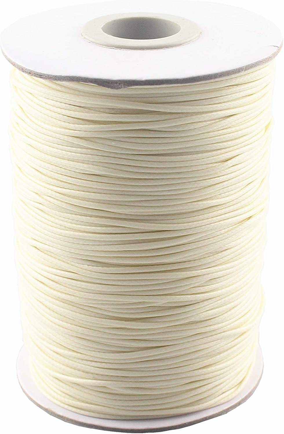 Natural QIANHAILIZZ 200 Yards 1.0 mm Waxed Jewelry Making Cord Waxed Beading String Craft DIY Thread