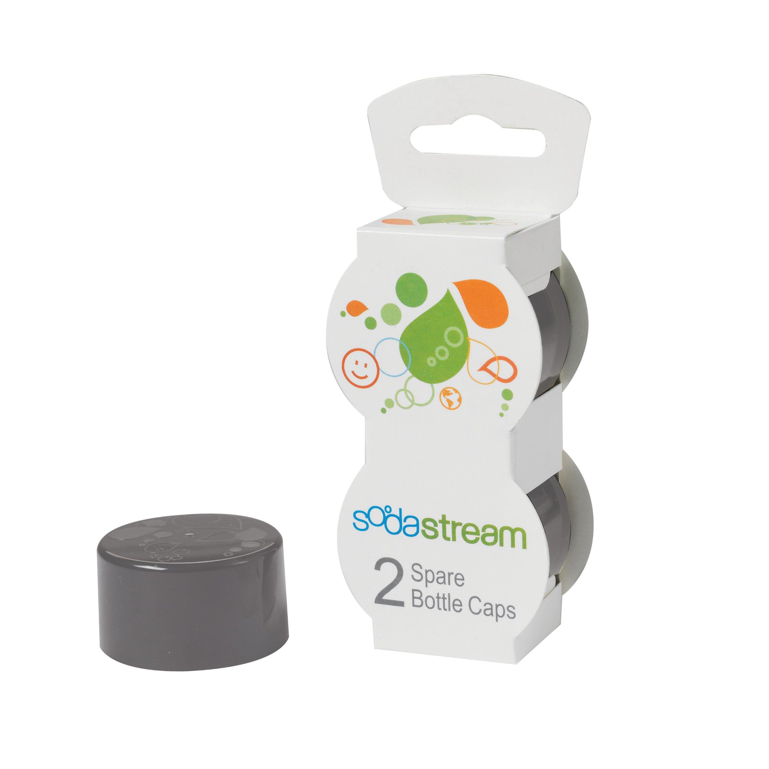 SodaStream Bottle Caps, Gray, 2-Pack