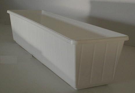 Fioriere In Plastica 80 Cm.Fioriera Da Balcone Fioriera In Plastica 80 Cm Colore Bianco