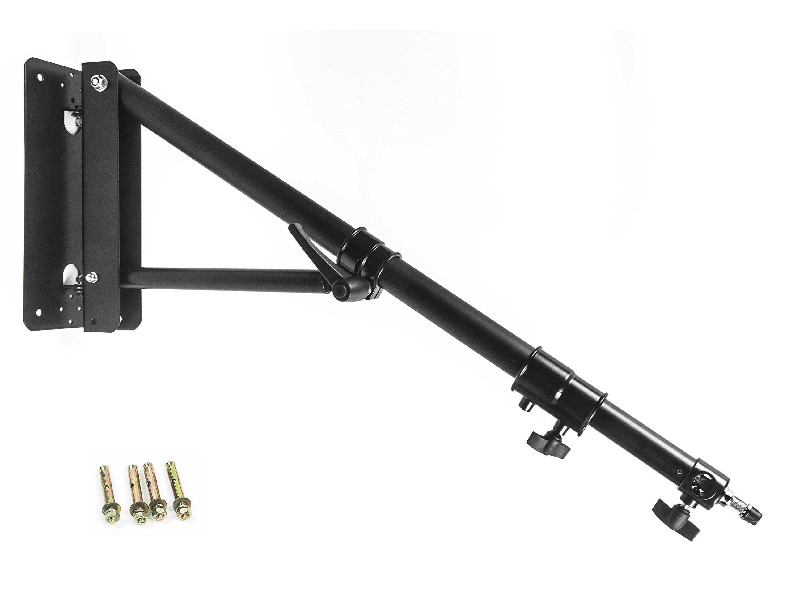 PHOCUS Wall Mount Boom Arm for Photography Studio Video Strobe Lights, Max Length 51 inches /130 cm, Horizontal and Vertical Rotatable by Phocus