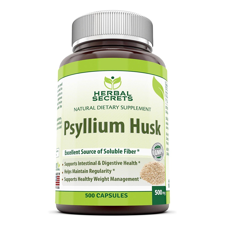 Herbal Secrets Psyllium Husk 500 Mg 500 Capsules