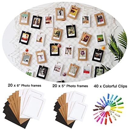Amazon.com - Photo Hanging display with 40 Clip and 40 Picture frame ...