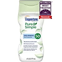 Deals on Coppertone Pure & Simple SPF 50 Sunscreen Lotion