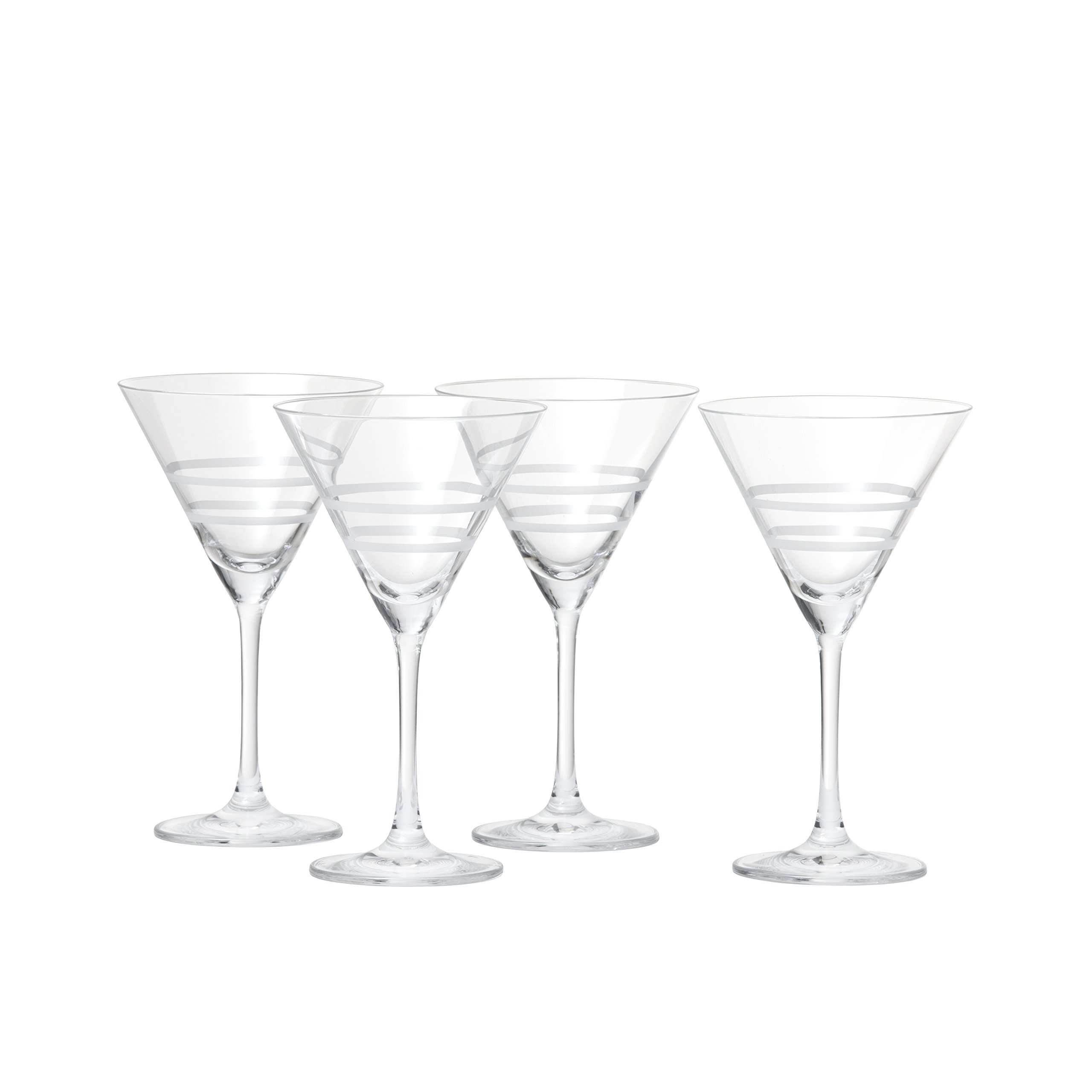 Crafthouse by Fortessa Professional Barware by Charles Joly, Etched Schott Zwiesel Tritan 8.6 oz Martini Barware/Cocktail Glass, Set of 4
