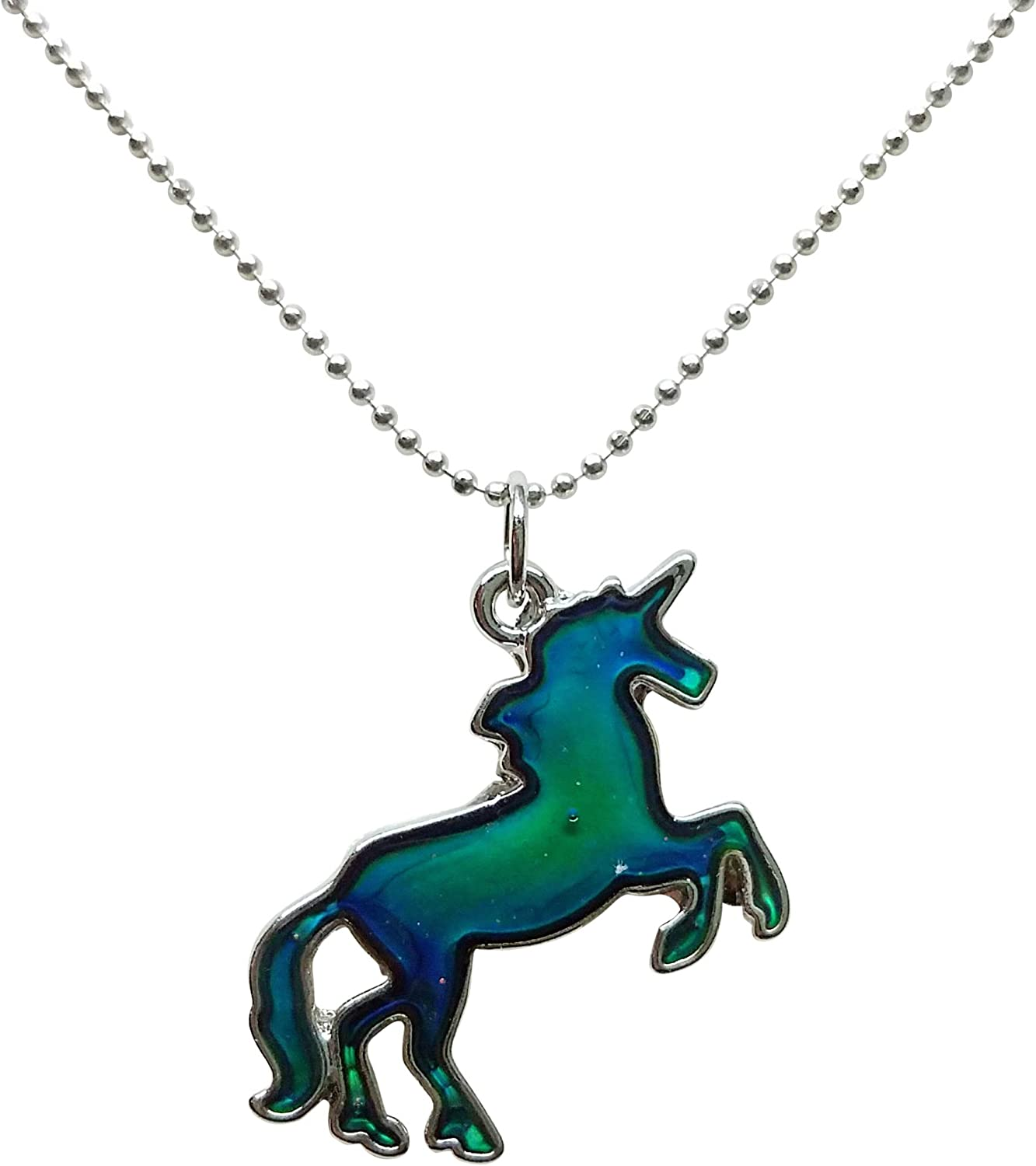 Wind and Fire Unicorn Dainty Pendant Necklace with 18 Inch Adjustable Chain Sterling Silver