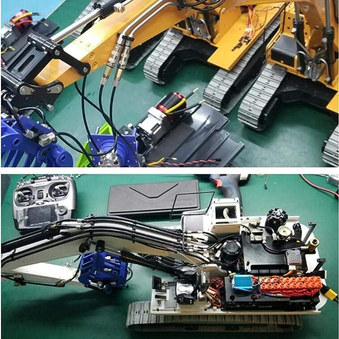 min W?rmeableitung rot Amyove Metall-Motorl/üfter RC-Car-Zubeh?r L/üfter f/ür b/ürstenlosen Motor 540 Kleine 28000 U