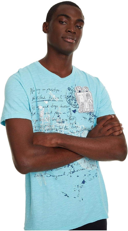 Desigual - Camiseta ALOJ Hombre Color: 5091 Talla: S: Amazon.es: Ropa y accesorios
