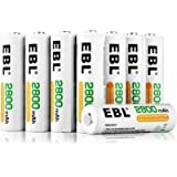 EBL 16-Pack AA 2800mAh High Capacity Rechargeable Batteries Ni-MH 1.2V 1200 Cycles (Battery Case Included)