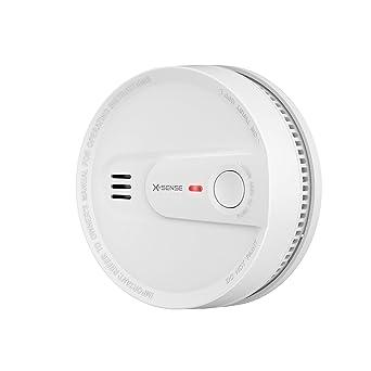 Alarma de humo con batería de 10 años, Instalación inalámbrica, Detector de humo X-SENSE con batería de 10 años, Alarma contra incendios mejorada, ...