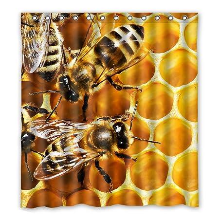 Dalliy Abeja de Miel de abeja disfraz cortina de la ducha Shower ...