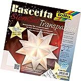 Folia Bascetta Stern Bastelset Transparentpapier 15x15cm, weiß