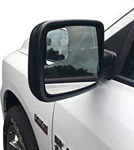Beech Lane Blindspot Mirror Two-Pack For 2009-18 Dodge Ram Trucks, Custom Fit For Ram Non Towing Mirrors,Chrome Glass Prevents Glare and Blemishes, Authentic 3M Adhesive