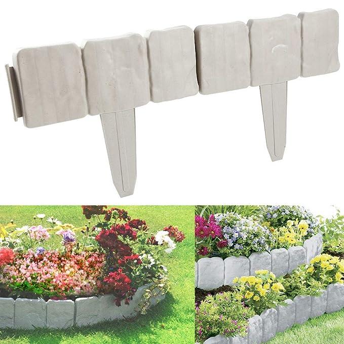 Soldela - Lote de 10 módulos de Borde de jardín con Efecto Piedra ...