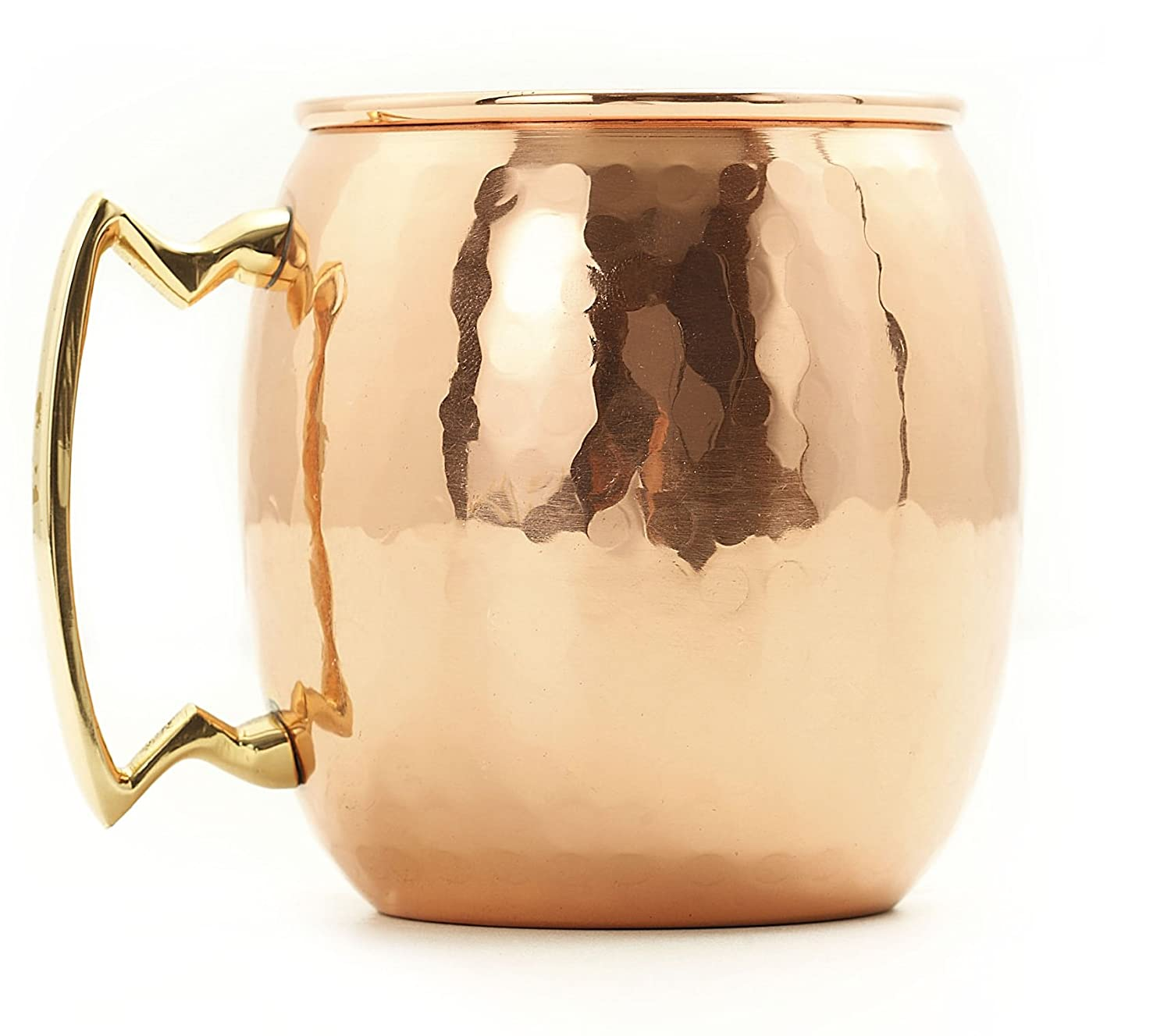 amazoncom old dutch nickellined solid copper hammered moscow mule mug 16 oz kitchen u0026 dining