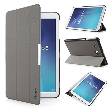 iHarbort® Samsung Galaxy Tab E 9.6 Funda - ultra delgado ligero Funda de piel de cuerpo entero para Samsung Galaxy Tab E 9.6 (T560 T565) (Galaxy Tab E ...