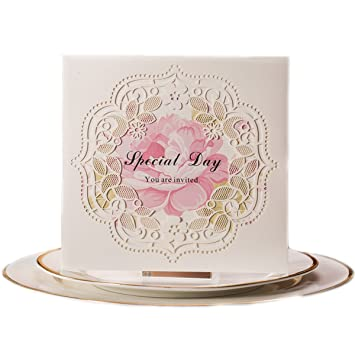 Amazon Com Kln Dress 50pcs Wedding Invitation Cards