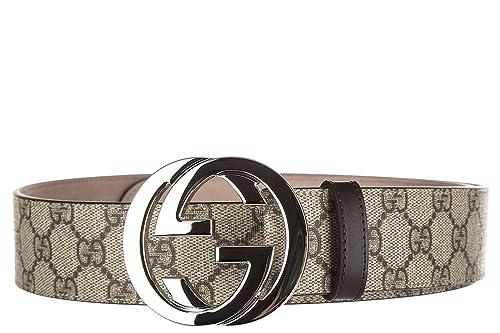 nuovo di zecca 1b54e 7d632 Gucci cintura uomo vera pelle nuova originale beige: Amazon ...