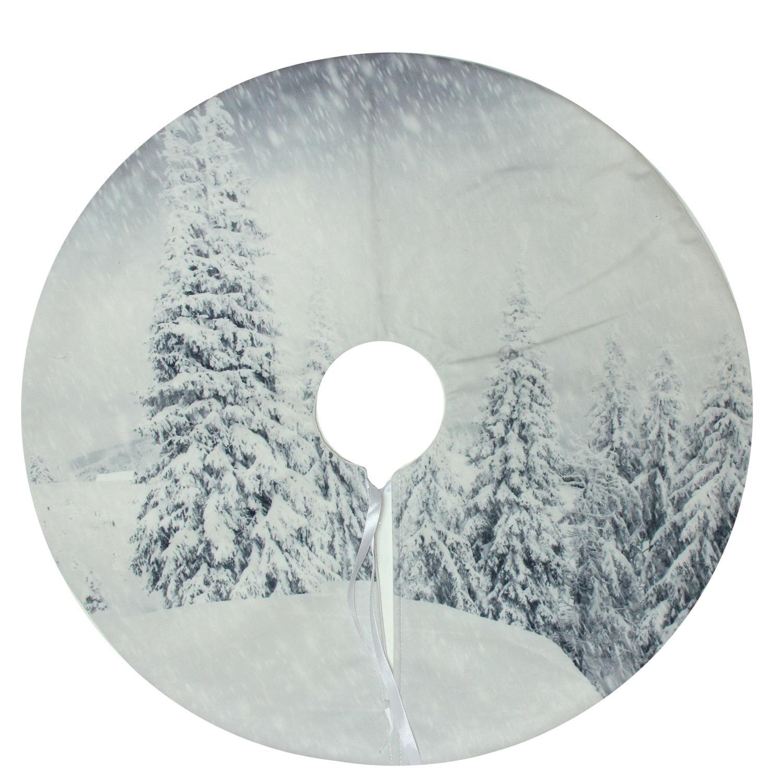 "Northlight 23.6"" Winter's Beauty Snowy Woodland Decorative Mini Christmas Tree Skirt"