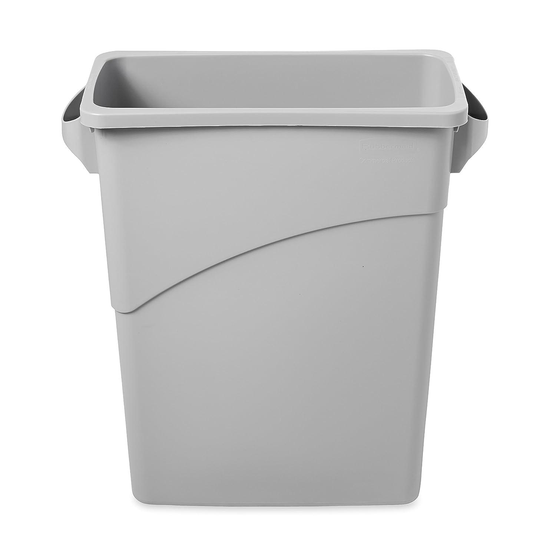 Gé né rique Slim Jim Recycling Container with Handles, 60 L - Bleu Rubbermaid FG354173BLUE Poubelle