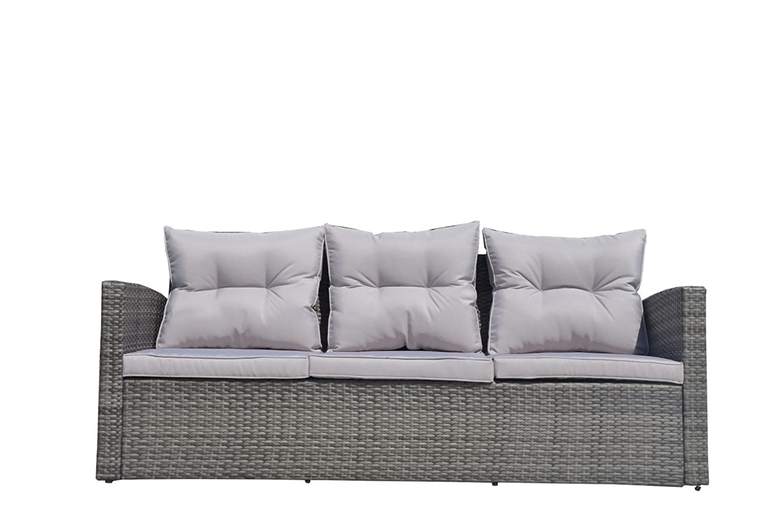 Amazon.com: Direct - Juego de sofá de mimbre de 6 piezas ...