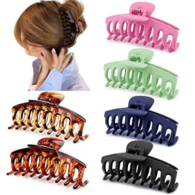 Women Cool Crystal Hairpin Hair Claw Acrylic Jaw Ponytail Clip Grip Clamp UK