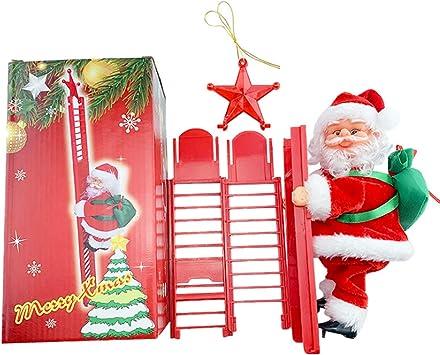 Peluches eléctricos   Escaleras rojas Muñeca de Santa de ...