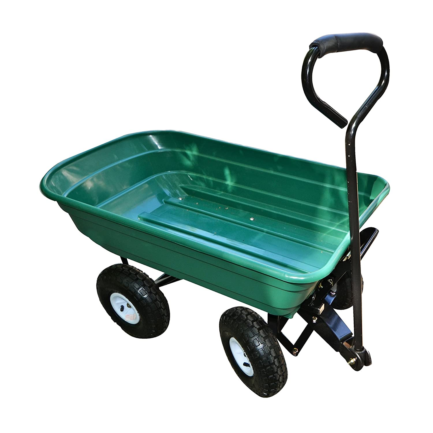 Precision LC2000 Capacity Mighty Garden Yard Cart, 600-Pound