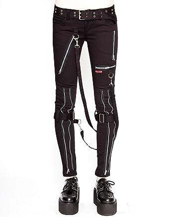 Black chain bondage pants accept