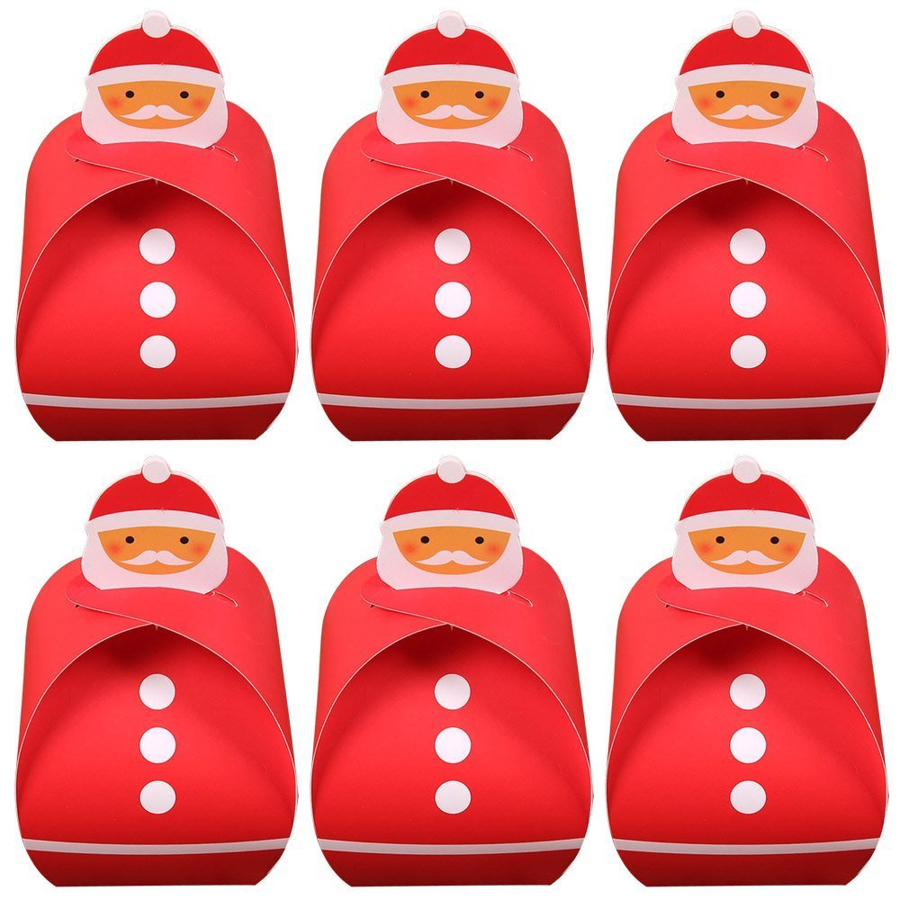 Exoh 6pezzi Christmas Theme Paper Gift Candy box torta Cookies Bakery scatole