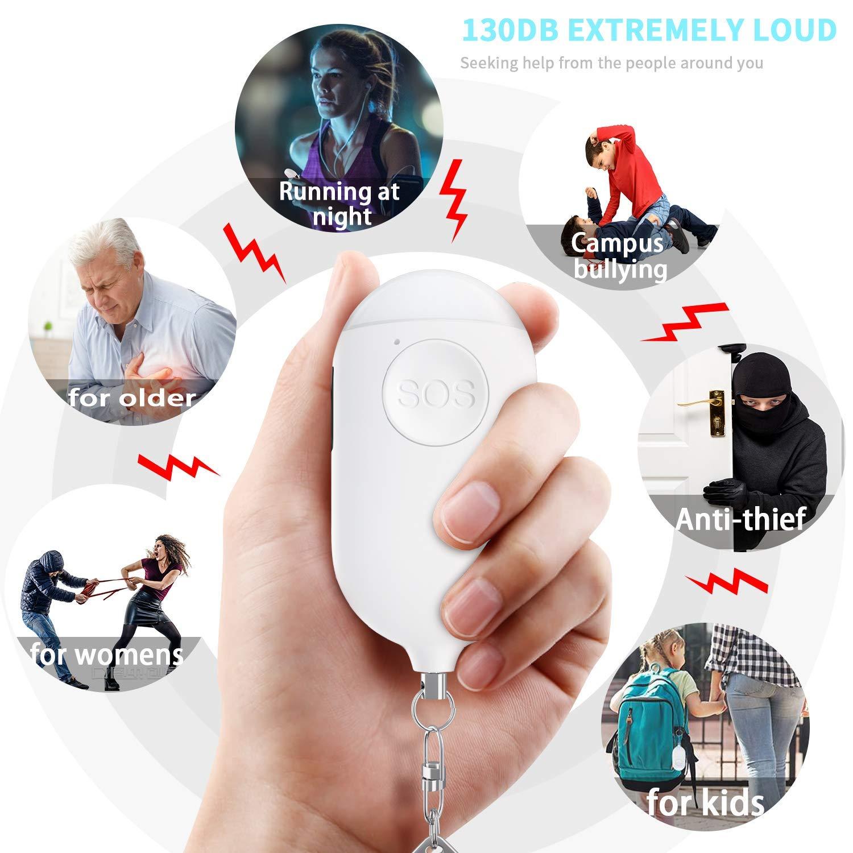 Ni?Os y Ancianos Alarma de Autodefensa Llavero con Linterna LED de Emergencia Ni?As TOOGOO Sirena de Alarma Personal Dispositivos de Seguridad de Protecci/óN Personal para Mujeres